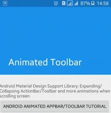 android toolbar tutorial animated android toolbar expanding and collapsing viral