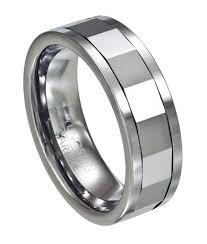 Amazon Wedding Rings by Amazon Com Men U0027s 8mm Comfort Fit Mirrored Tungsten Spinner Ring
