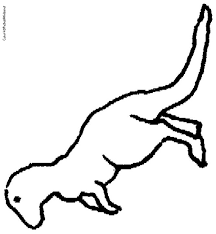 photos rex outline printable rex dinosaur outline