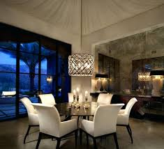 crystal chandelier with shade kitchen and dining room lighting