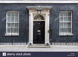 Number 10 Downing Street Floor Plan The Closed Front Door Of Number 10 Downing Street London England