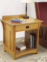 Arts And Crafts Writing Desk Arts And Crafts Nightstand Woodworking Plan From Wood Magazine