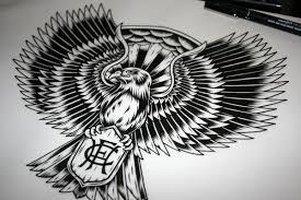 hawthorn hawks tattoo design on behance