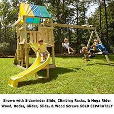 wood swing set ebay