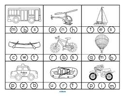 transportation beginning sounds stamp or color 2 printables with