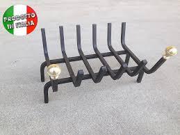 brucialegna per camino brucialegna ferro con pomoli ottone cm 60x30 brucialegna ferro con