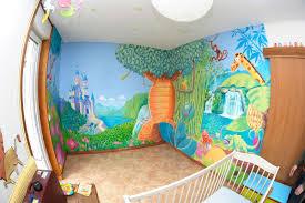 fresque chambre fille chambre ambiance chambre enfant fresque murale pour une chambre