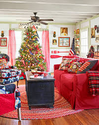 Country Living Room by 26 Best Christmas Home Tours Houses Decorated For Christmas