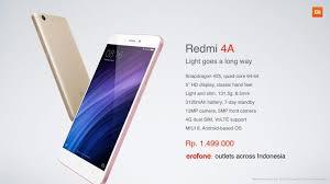 erafone redmi 4 xiaomi commits to indonesia market with the launch of redmi note 4a