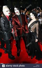 marilyn manson halloween dpa us rock star marilyn manson c is flanked by his