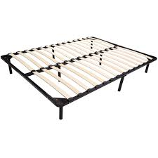 Best Buy Bedroom Furniture by Homcom Double Queen Size Wood Slat Bed Steel Frame Solid Bedroom