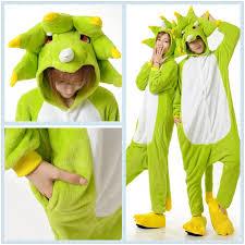 green triceratops kigurumi onesie for pajama costume