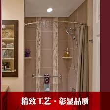 thick stainless steel telescopic shower curtain rod curved corner thick stainless steel telescopic shower curtain rod curved corner shelf bathroom shower curtain rod curtain punch required in curtain poles