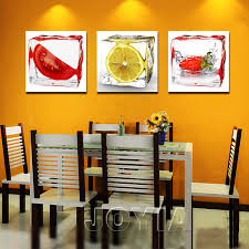 3 piece modern wall canvas painting ice fruit art pictures home