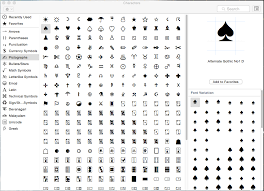 Glyph Symbol - how to find the font that has the glyph you need from