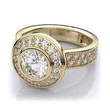 bezel set engagement rings bezel set low profile diamond engagement ring in 14k yellow gold