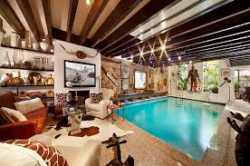 in the livingroom estate spotting a manhattan townhouse with a pool in the