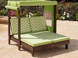 kidkraft outdoor double chaise lounge chair with canopy 184 diy