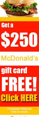 mcdonalds gift card discount free mcdonalds gift card find out how to get this 250 mcdonald s
