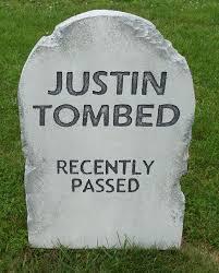 halloween u0027justin tombed u0027 tombstone prop decoration 24