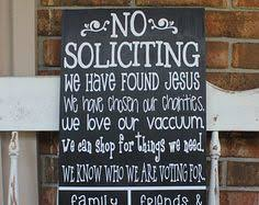 no soliciting sign funny front porch sign rustic no by memorease
