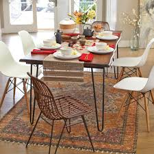 Creative Wooden Dining Table Perfect Ideas Hairpin Dining Table Dazzling Design Industrial