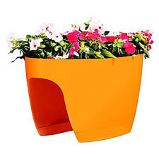 blumentopf balkon greenbo xl planter balkon pflanzgefäß orange blumentopf günstig