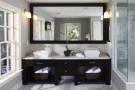 Exquisite Contemporary Bathroom Vanities With SpaceSavvy Style - Dark wood bathroom cabinets