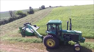 mowing 3rd crop hay to be chopped john deere 4440 u0026 835 moco