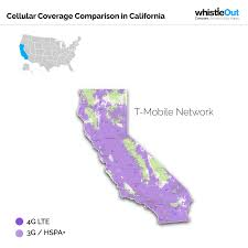 Zip Code Map California by Best Cell Phone Coverage In California Whistleout