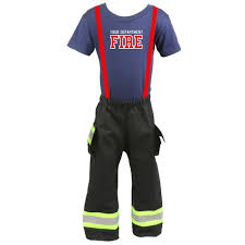 Firefighter Halloween Costume Personalized Firefighter Toddler Turnout