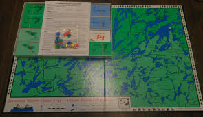 Boundary Waters Map Boundary Waters Canoe Trip Board Game Review Geeky Hobbies