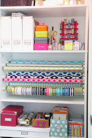 wrapping paper station iheart organizing diy gift wrap organization station