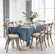 Dining Room Table Cloth Mitered Hem Linen Tablecloth By The Linen Works