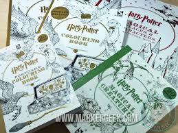 harry potter colouring book cornish pixies copics marker geek