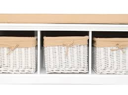 Storage Bench With Baskets 22 White Storage Bench With Baskets White Storage Entryway Bench
