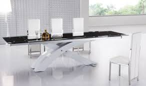 Modern Extendable Dining Table Modern Extendable Dining Table With Glass Top And Metal Base