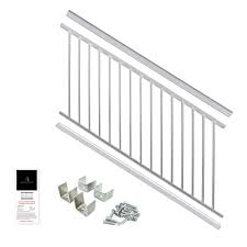 Udecx Home Depot by Powder Coated Aluminum Preassembled Deck Stair Railing 36 In X 6