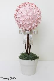 Paper Rose Topiary - diy paper flower topiary mommy suite