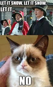 Grumpy Cat Snow Meme - let it snow let it snow funny grumpy cat dump a day