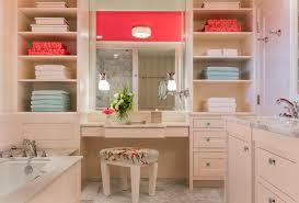 Bathroom Towel Racks Ideas White Tub Surround At Cream Marble Panel Bathroom Towel Storage