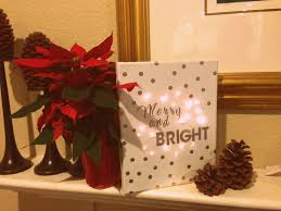 diy christmas decor craft lighted canvas youtube