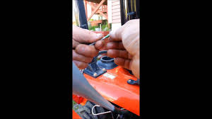 checking hst fluid level kioti tractor youtube