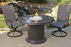 brown grand colonial gas fire pit table chat dining or pub