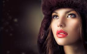 beauty fashion model with hat wallpaper