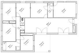 plan maison 5 chambres gratuit plan de maison en l avec 5 chambres plan maison