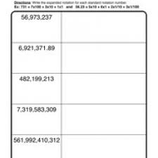 place value standard expanded worksheet 1