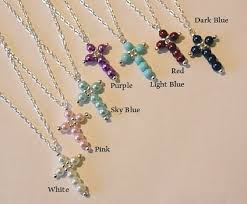 beaded cross necklace images Flossies jewels gems pearl beaded cross pendant silver plated jpeg