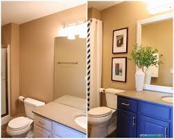 Ideas For A Bathroom Makeover Guest Bathroom Lighting And Framing A Builder Grade Mirror