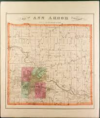 Paper Town Map Pictorial History Of Ann Arbor Map Of Ann Arbor Township Town 2